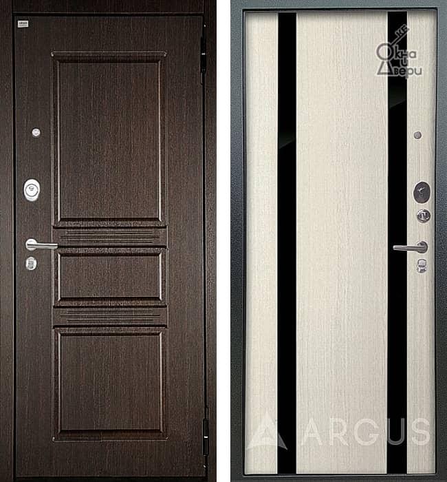 Дверь АРГУС ЛЮКС АС Сабина Венге / Дуэт Белое дерево