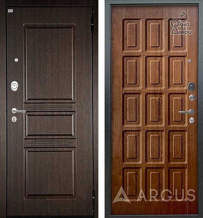 Дверь АРГУС ЛЮКС АС Сабина Венге / Шоколад Дуб золотой