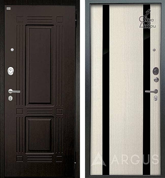 Дверь АРГУС ЛЮКС АС Триумф Венге / Дуэт Белое дерево