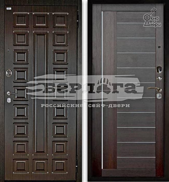 Дверь БЕРЛОГА 2П СЕНАТОР Венге / ДИАНА Вельвет