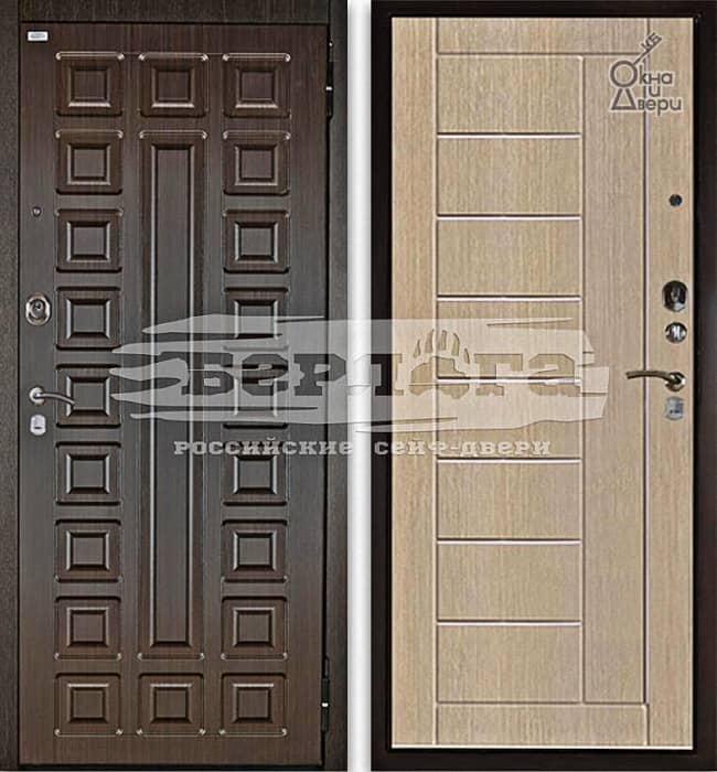 Дверь БЕРЛОГА 2П СЕНАТОР Венге / ФРИЗА Ларче светлый