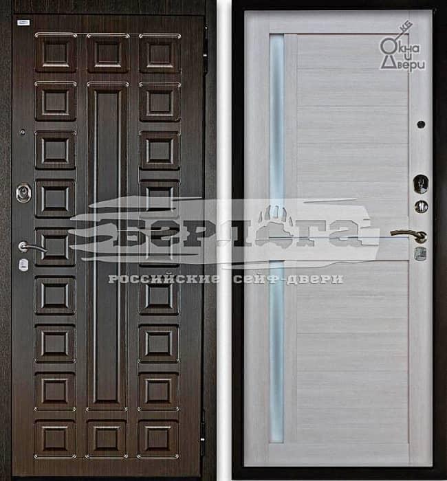 Дверь БЕРЛОГА 2П СЕНАТОР Венге / МИРРА Буксус