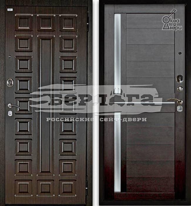 Дверь БЕРЛОГА 2П СЕНАТОР Венге / МИРРА Вельвет