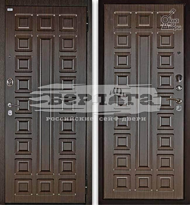 Дверь БЕРЛОГА 2П СЕНАТОР Венге / СЕНАТОР Венге