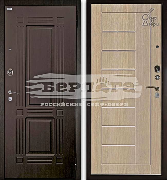 Дверь БЕРЛОГА 2П ТРИУМФ Венге / ФРИЗА Ларче светлый