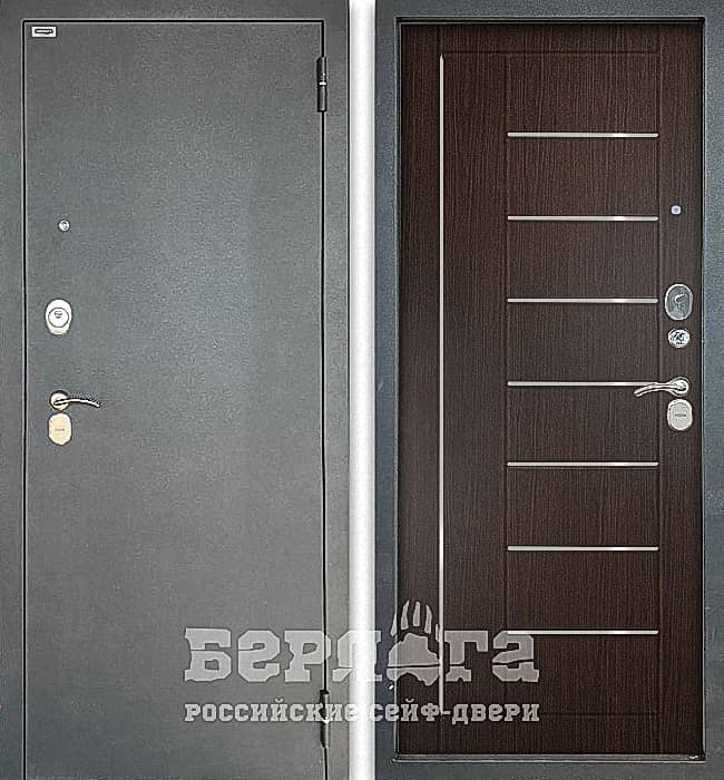 Дверь БЕРЛОГА ТРИНИТИ 3К ФРИЗА Венге