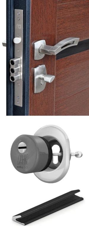 Элементы металлической двери