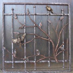 Кованая решетка с птицами 1