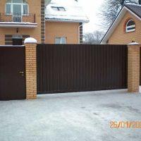 Откатные ворота Пример 1