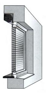 Монтаж роллеты комбинированный внутренний