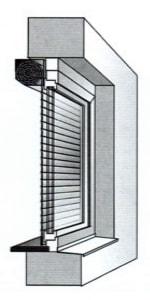 Монтаж роллеты встроенный внутренний