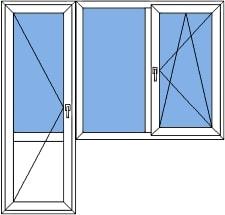 ПВХ балконный блок