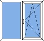 ПВХ окно двустворчатое
