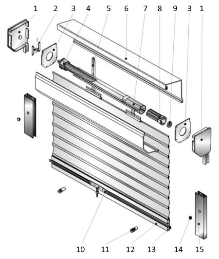Роллета с пружинно-инерционным механизмом