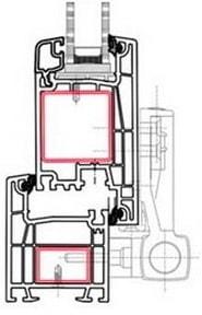 Система ПВХ дверная Grain-Vektor 58