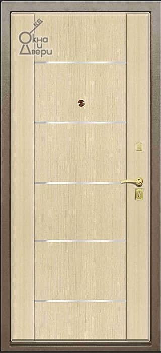 Дверь СТАТУС П2К3 Молдинг вариант 4